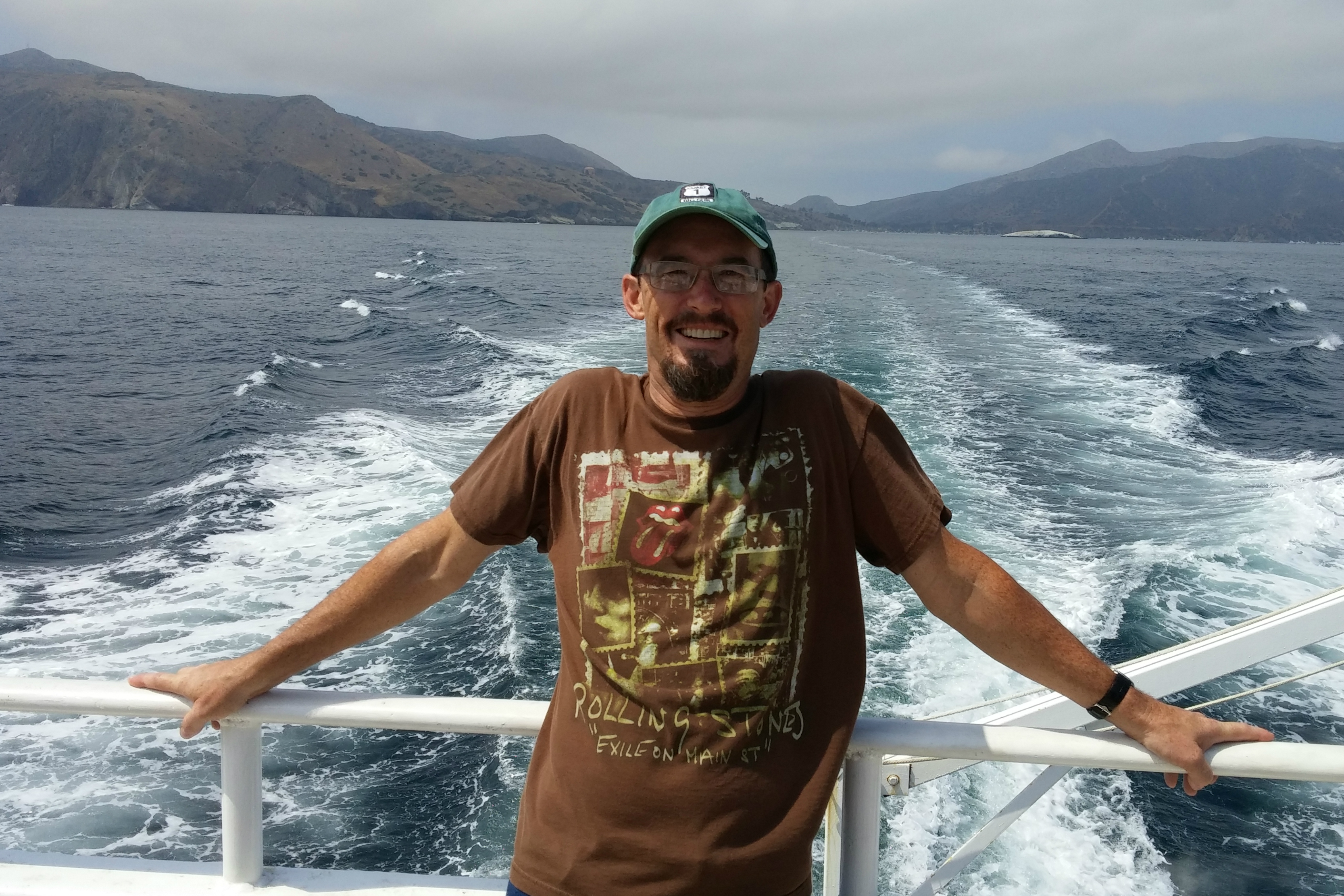 Mr. Smith on the boat to Catalina