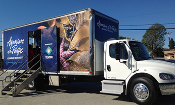 Aquarium on Wheels truck