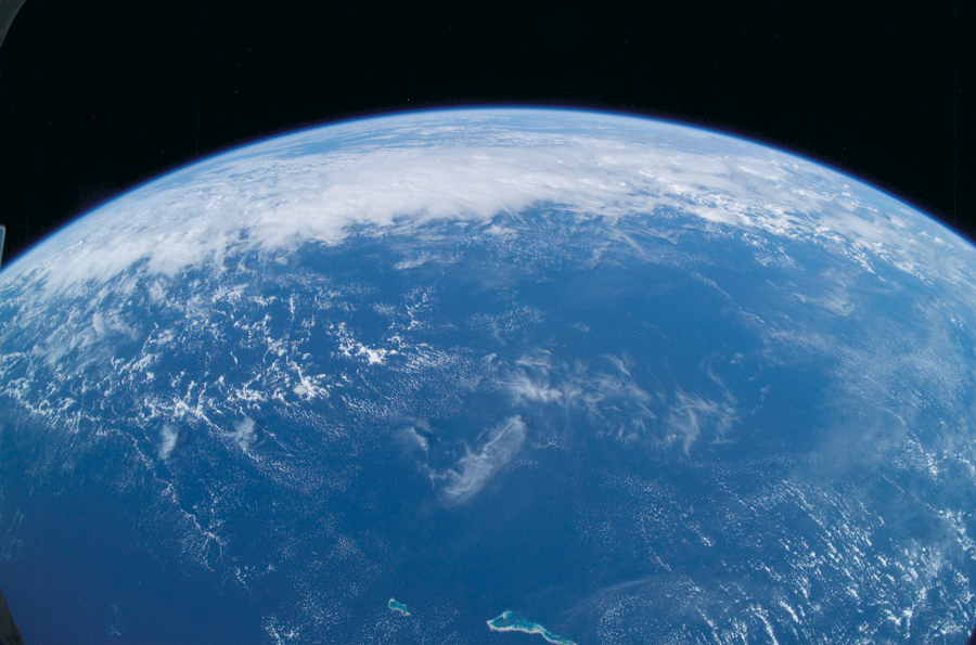 Earth from space showing Pacific Ocean