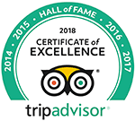 Trip Advisor Logo Hall of Fame 2018