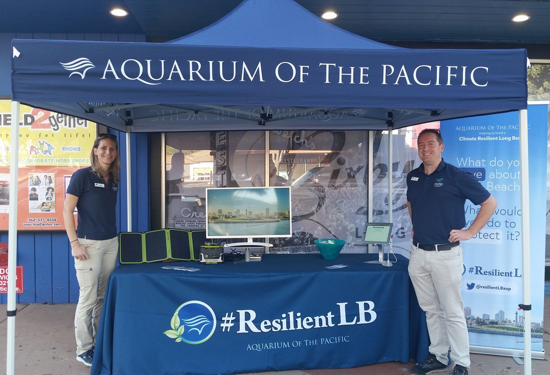 Resilient Long Beach exhibitor booth - lightbox