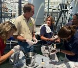Aquarium staff working on abalone links to Abalone Breeding