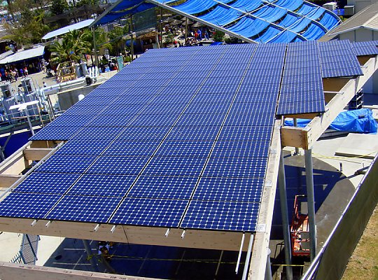 Solar panels on a roof - slideshow