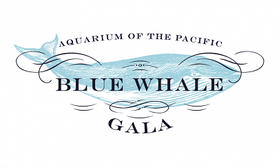 Blue Whale Gala logo with blue whale graphic