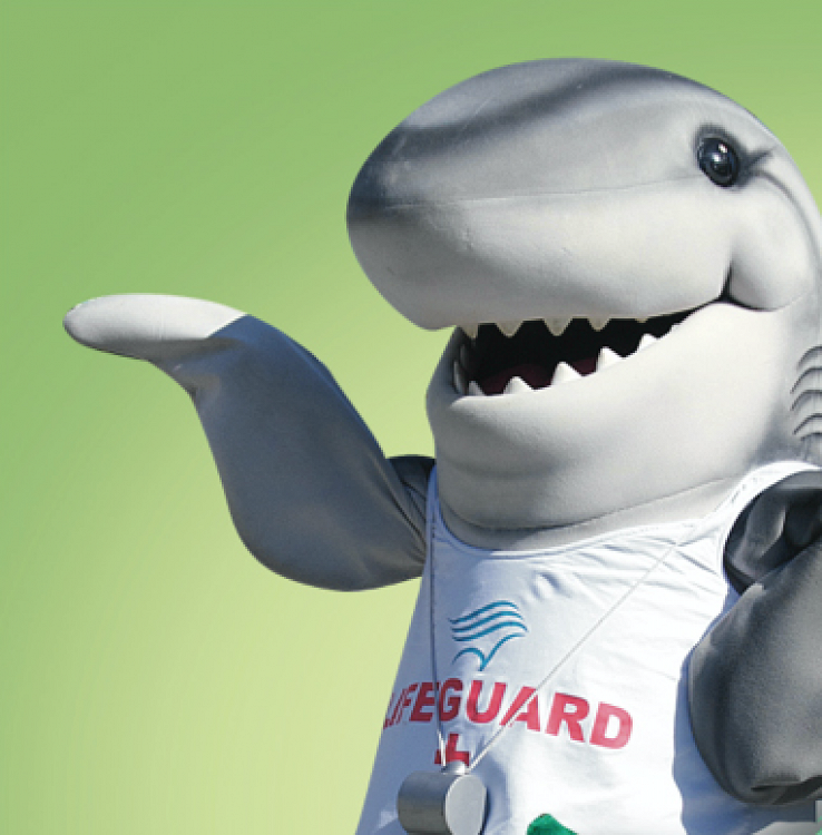 shark mascot - lightbox