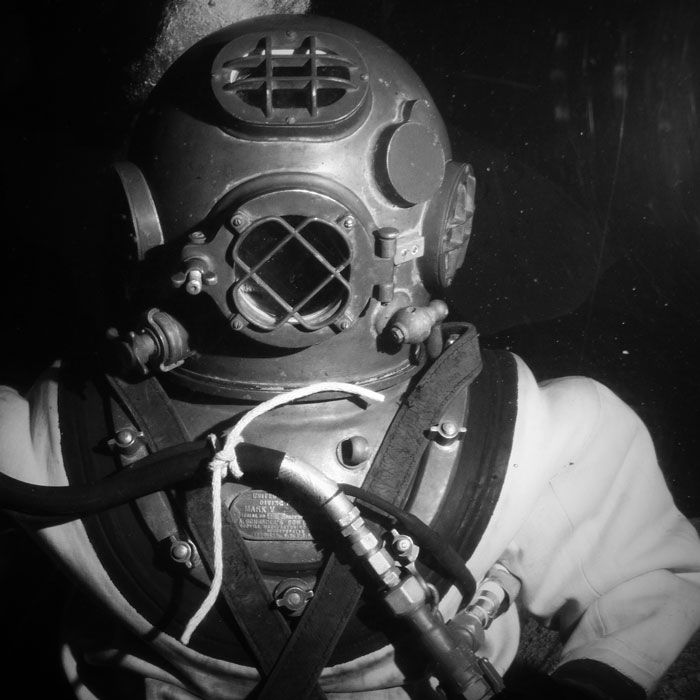 Old Fashioned Diving Suit - lightbox