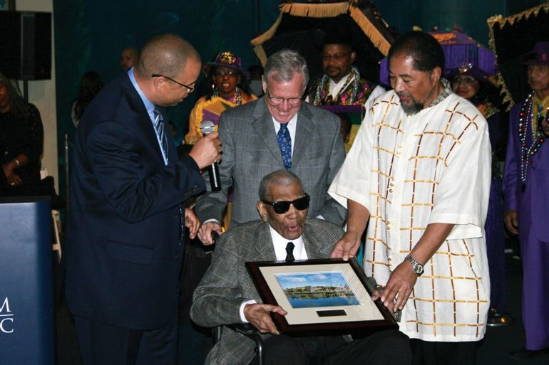 Aquarium Honors Centenarian Community Leader