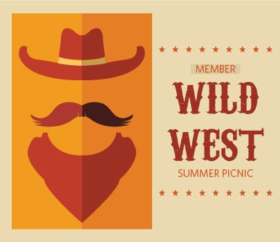 Wild West member picnic invitation