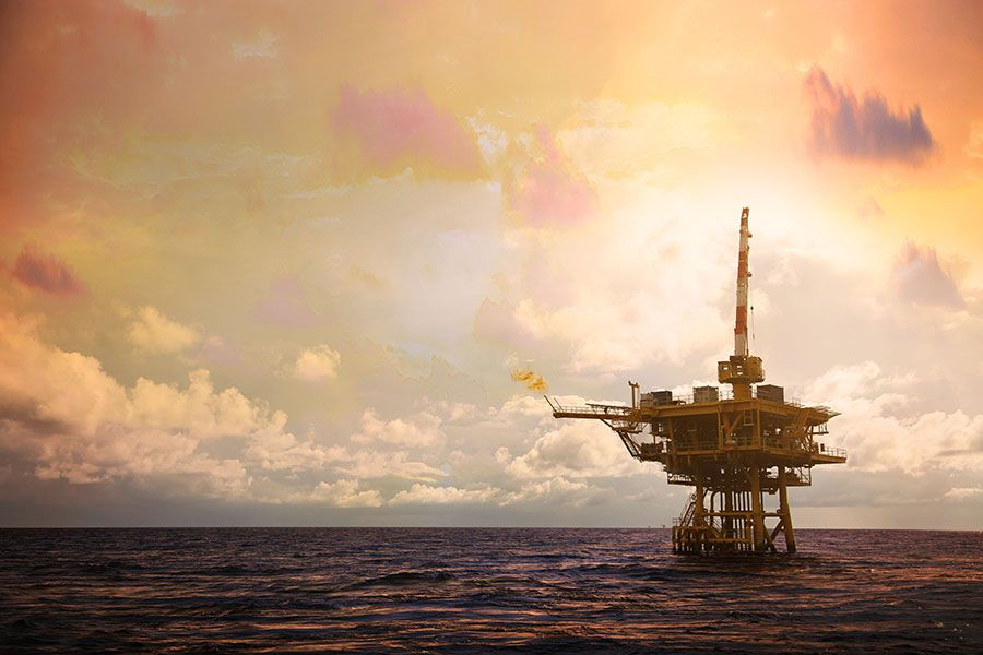 Offshore oil rig - lightbox