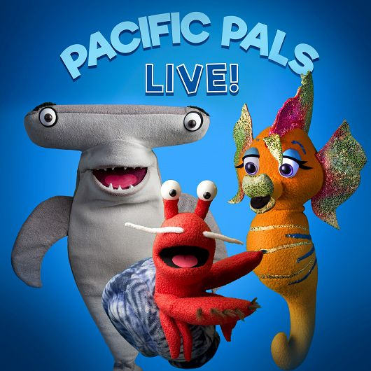 Pacific Pals Live! puppet characters - popup