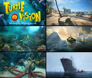 Collage of Turtle Vision stills - lightbox