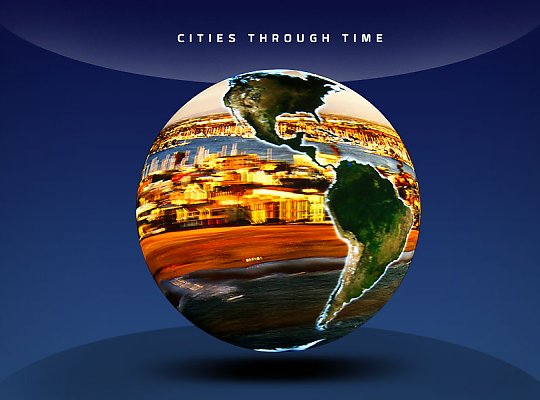 globe with a city replacing the ocean - slideshow