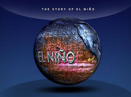 globe showing el nino - slideshow