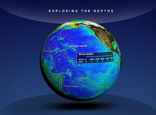 globe showing ocean depth - slideshow