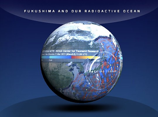 globe showing fukushima - slideshow