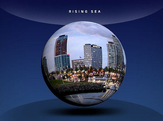 globe with image of buildings - slideshow