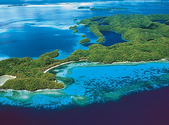 Aerial view of tropical islands - slideshow
