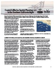 Coastal & Marine Spatial Planning (CMSP) in the Southern California Bight