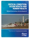 Report Cover links to Critical Condition: Ocean Health and Human Health