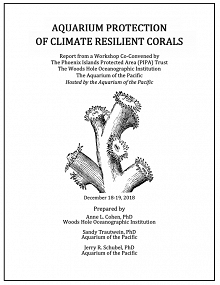 Aquarium Protection of Climate Resilient Corals Workshop Report Cover