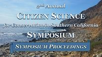Citizen Science Symposium graphic showing a coastline