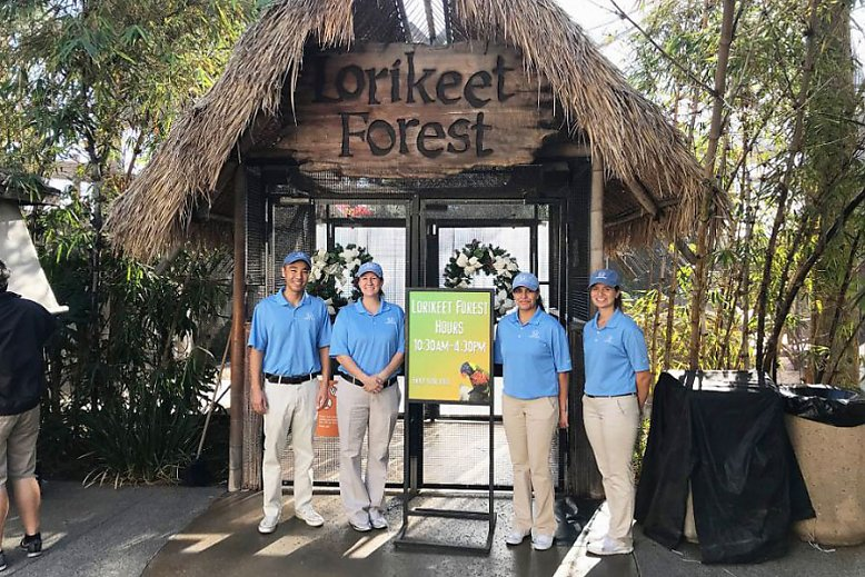 Helpful Honda people welcome guests at Lorikeet Forest - slideshow
