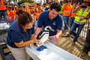 Penguin Signs Beam with Help From Aquarium Staff links to Pacific Visions Construction Reaches Milestone