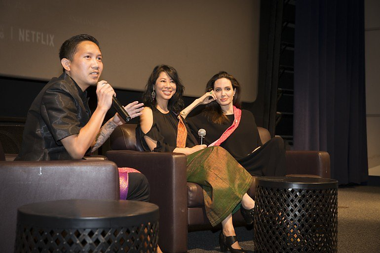 Ly, Loung, and Jolie in the q&A