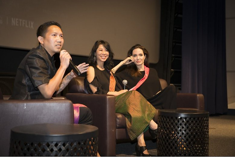 Ly, Loung, and Jolie in the q&A - slideshow