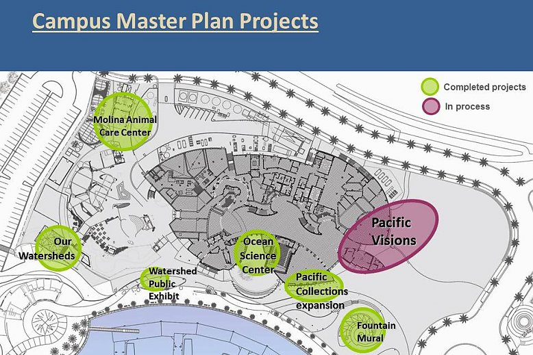 Pacific Visions Campus Master Plan map rendering - slideshow