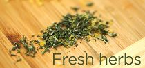 Fresh herbs links to Herb Video