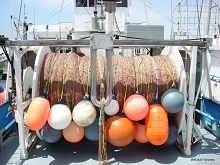 Gillnet on a boat links to The Fishery