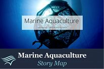 Ocean cage with Marine Aquaculture Story Map graphics