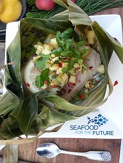 Opah with mango salsa - popup