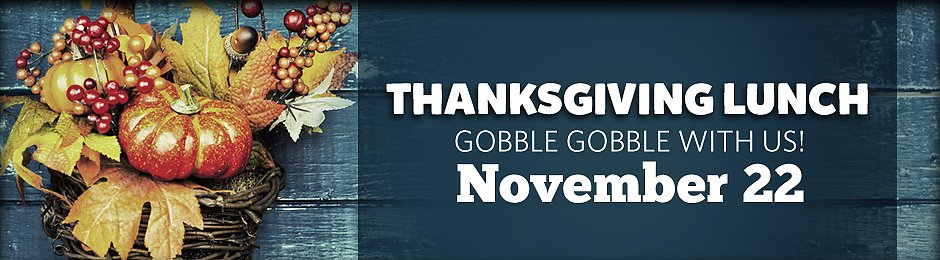 Thanksgiving Lunch at the Aquarium on November 22