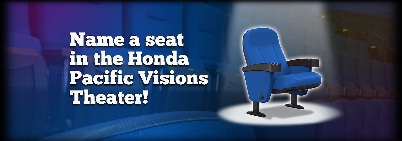 Name a seat in the Honda Pacific Visions theater - banner