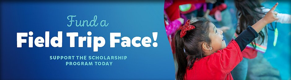 Fund a Field Trip Face! Support the Scholarship Program Today - banner