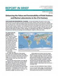 Report front page links to Enhancing the Value and Sustainability of Field Stations and Marine Laboratories in the 21st Century