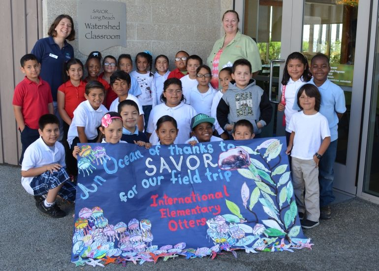 Students Visit Aquarium During Grand Prix Thanks to SAVOR…Long Beach