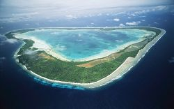 Aerial view of Kiribati