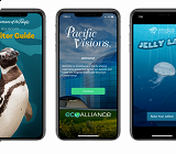 Three Aquarium Mobile App Screens