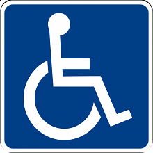 Internationally recognized symbol for accessibility