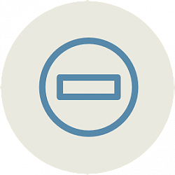 Icon of circle with rectangle