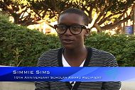 October Student Scholar: Simmie Sims