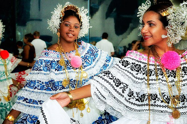 Dancers in traditional dresses