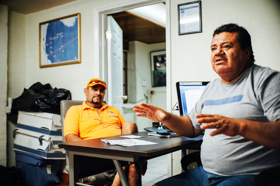 Fishermen discuss how to sustain their livelihoods while saving the vaquita