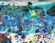 Mural Painted by Children with Wyland Now on Display