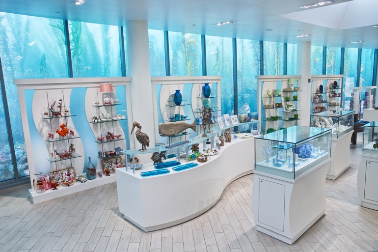 Interior view of Pacific Collections Gift Store