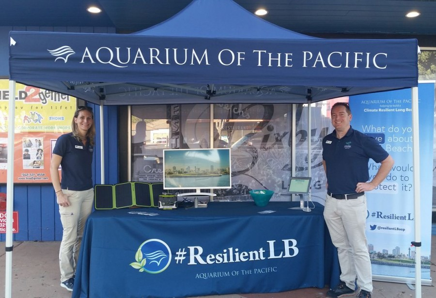 climate resilient Long Beach Aquarium booth
